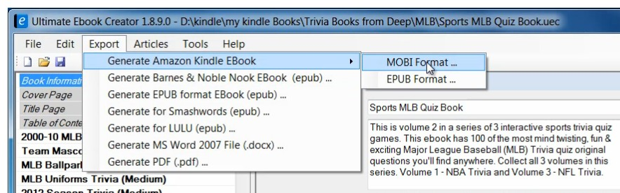Ultimate ebook Creator publish Kindle ebooks